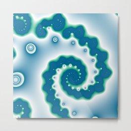 blue and geen fractal Metal Print