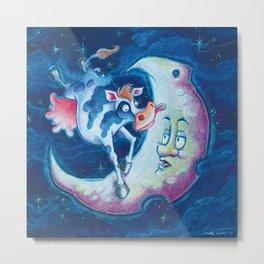 Over the Moon! Metal Print