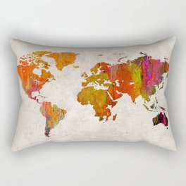 World Map 57 Rectangular Pillow