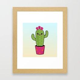 Cactus kawaii Framed Art Print