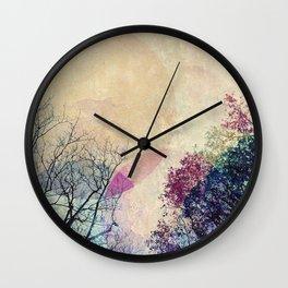 2 Trees Wall Clock