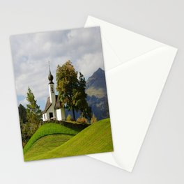 Small chapel in mountains Stationery Cards