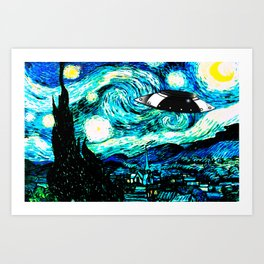Starry Night UFO Art Print
