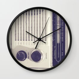 "on the radio... ""ANALOG zine""  Wall Clock"