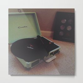 Record Player Metal Print