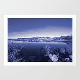 Surreal Landscape - Pahranagat NWR, Nevada Art Print