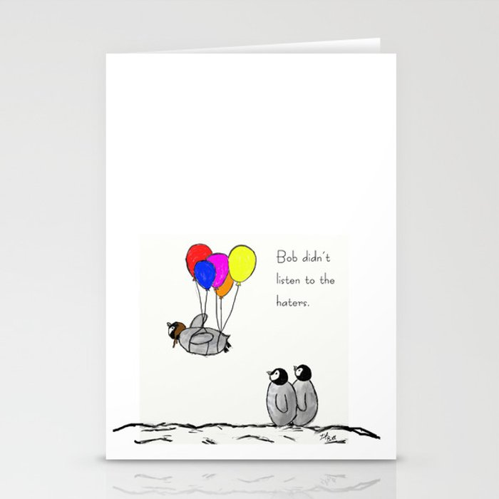To be a Flying Penguin Stationery Cards