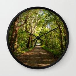 Aussie Dirt Bush Road Wall Clock