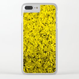 yellow cluster Clear iPhone Case