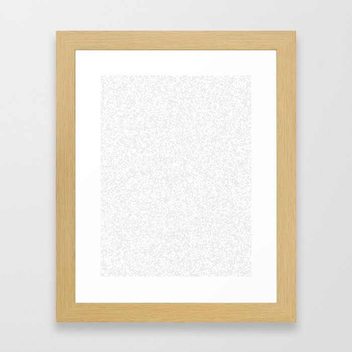 Tiny Spots - White and Pale Gray Framed Art Print