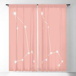 Leo Zodiac Constellation - Pink Rose Blackout Curtain