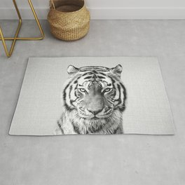 Tiger - Black & White Rug