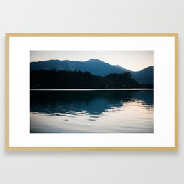 Sunrise in the Alps Framed Art Print