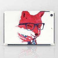 american iPad Cases featuring American Fox by Robert Farkas