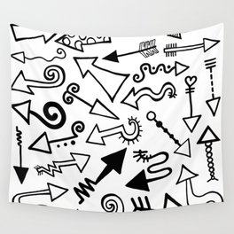 Arrow Doodles Wall Tapestry