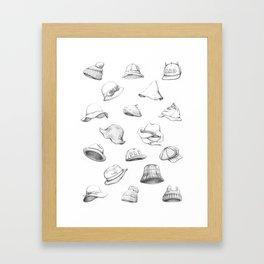 Muous Hats Framed Art Print