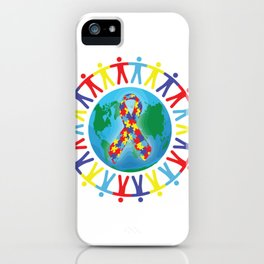 Autism awareness day Shirt - support autistic kids iPhone Case