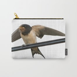 Swallow On A Wire Vector Carry-All Pouch