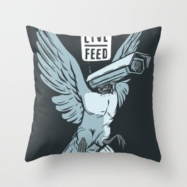 Live Feed Throw Pillow