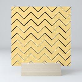 Line Chevron Pattern Mini Art Print
