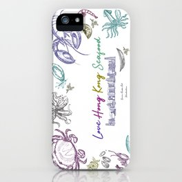 Lovely Hong Kong Skyline & Seafood iPhone Case
