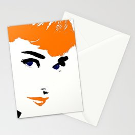 Audrey So Beautful In Orange and Blue Stationery Cards