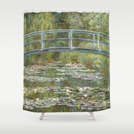 Bridge over a Pond of Water Lilies by Claude Monet Shower Curtain