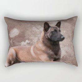 Malinois  Belgian shepherd - Mechelaar Rectangular Pillow