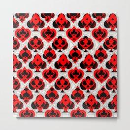 Ace Pattern Metal Print