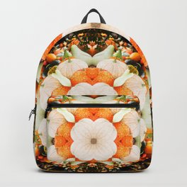 4 Point Mandala - Pumpkins Backpack