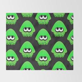 Splatoon Squid Pattern Green Throw Blanket