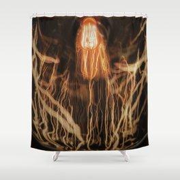vintage edison bulb reflection Shower Curtain