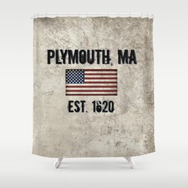 Plymouth, MA.  Established 1620 Shower Curtain