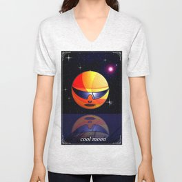 COOL MOON. Unisex V-Neck