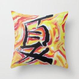 chinese summer Throw Pillow