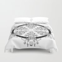 medicine Duvet Covers featuring Medicine Wheel by Verdant Winter