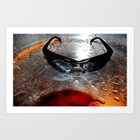 glasses Art Prints featuring glasses by  Agostino Lo Coco