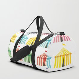 colourful circus tents Duffle Bag