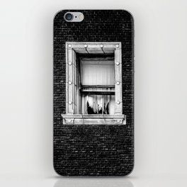 Brick Wall, Window, Torn Curtains in Los Angeles iPhone Skin