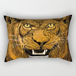Thunder Lion Rectangular Pillow