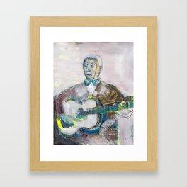 Old Blues Guitarist Framed Art Print