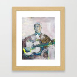 Old Blues Guitarist Framed Art Print