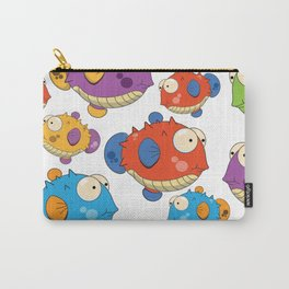 Cute cartoon puffer fish Carry-All Pouch