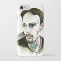 depression iPhone & iPod Cases featuring Portrait of Depression by ArtbyLumi