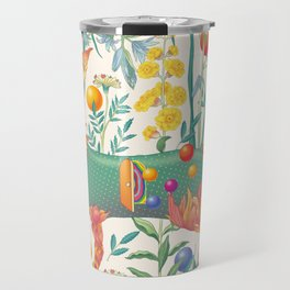 Flower cat Travel Mug