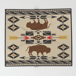 American Native Pattern No. 180 Throw Blanket