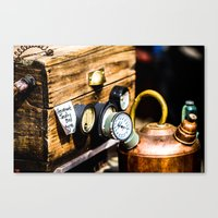 steampunk Canvas Prints featuring SteamPunk by thliii