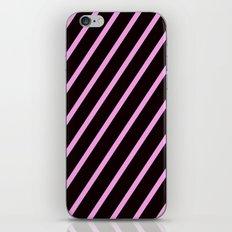 Pink & Black Stripes iPhone & iPod Skin