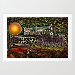 House by the lake Art Print