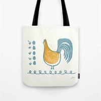 swedish Tote Bags featuring Swedish Hen by Chet and Dot